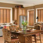 Кухня с красивым интерьером из дерева