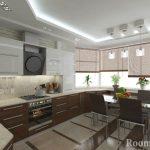 Кухня с современным дизайном
