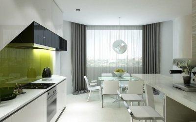 Дизайн штор для кухни — 80 современных вариантов