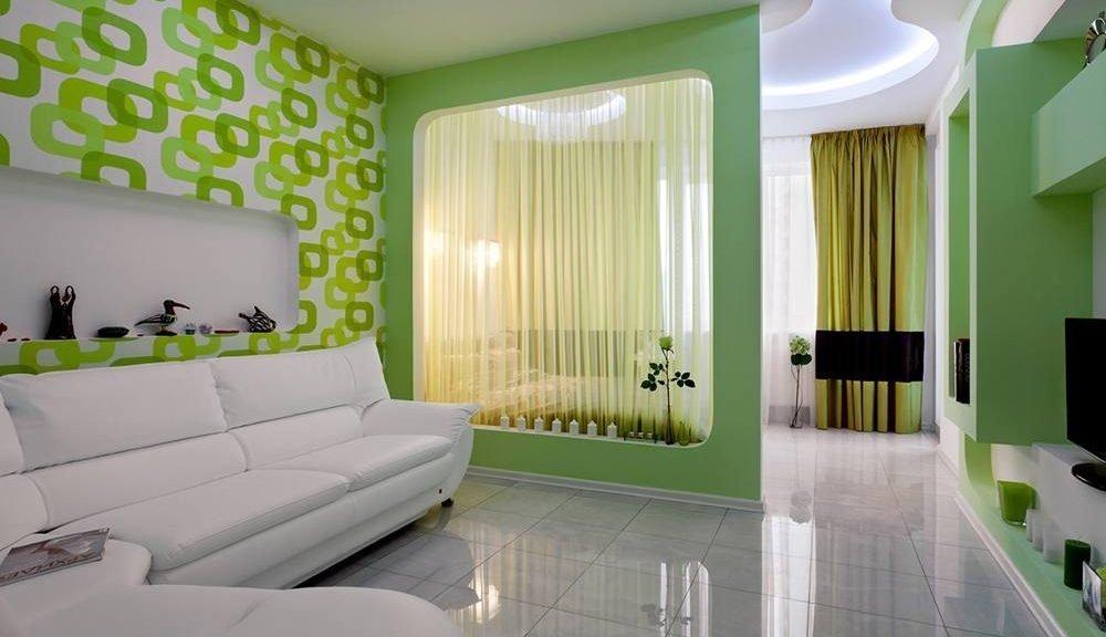Зонирование спальни-гостиной 18 кв м