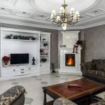 Дизайн гостиной с шелковыми обоями