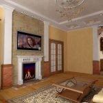 Гостиная с интерьером в классическом стиле