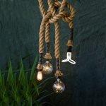 Лампочки на канате