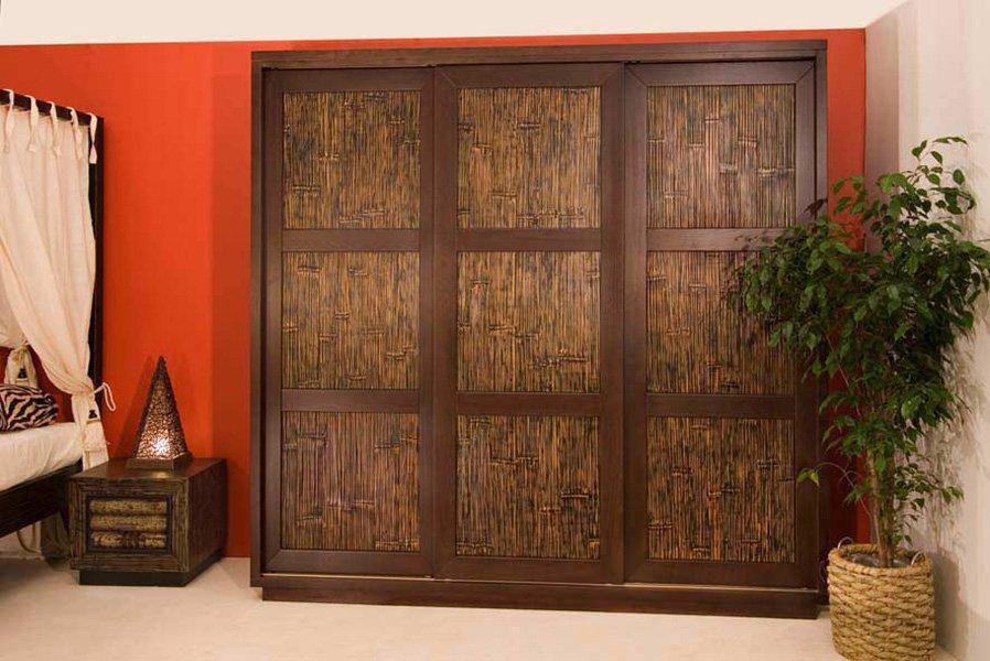 Шкаф-купе из бамбука