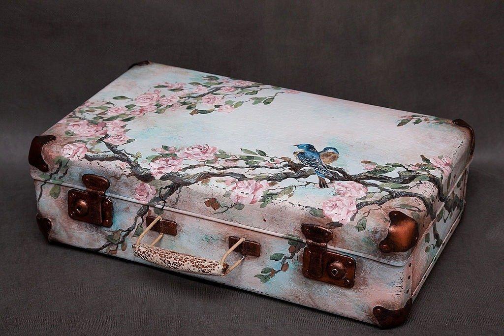 Декор чемодан своими руками 971