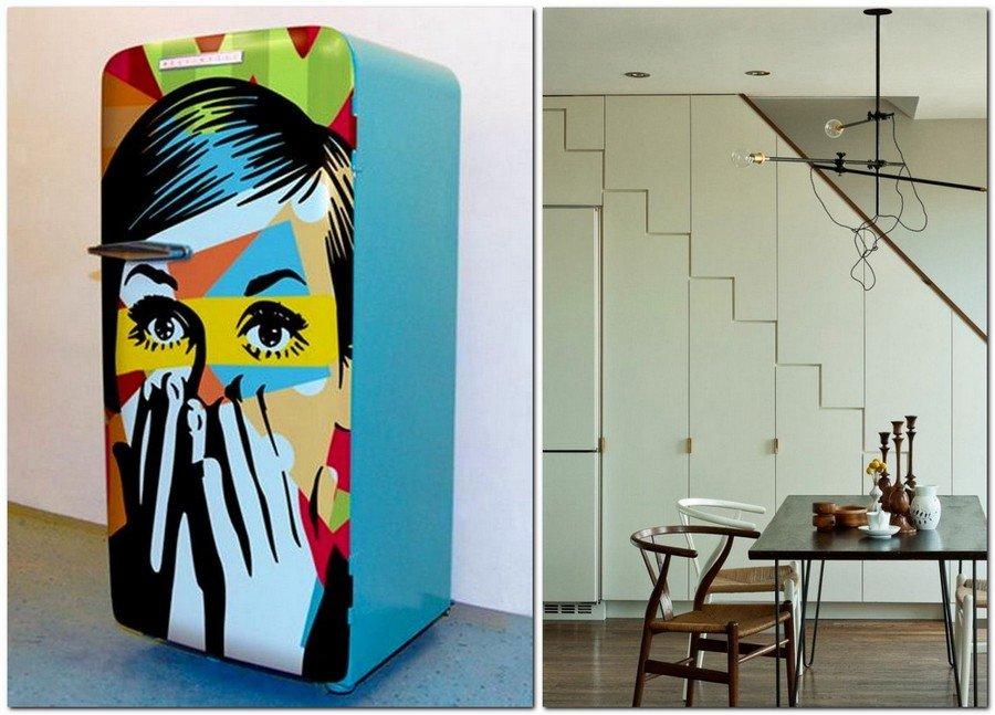 Стильный дизайн холодильника