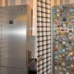 Декор холодильника магнитами