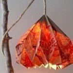 Люстра оригами из бумаги