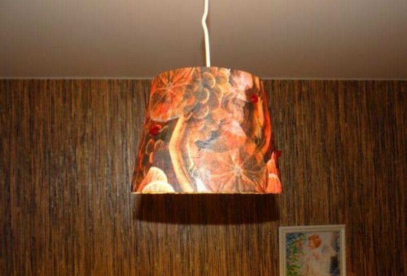 Как обновить светильник своими руками из