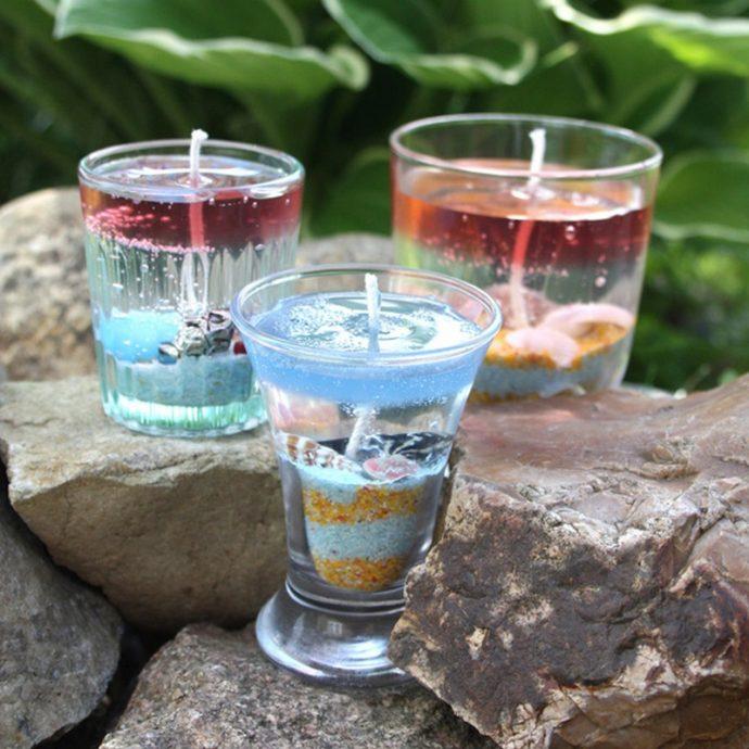 Как сделать свечку своими руками в стакане 45