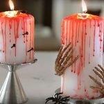 Кровавые свечи с гвоздями и руками