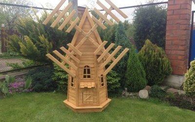 Декоративная мельница для сада своими руками +50 фото