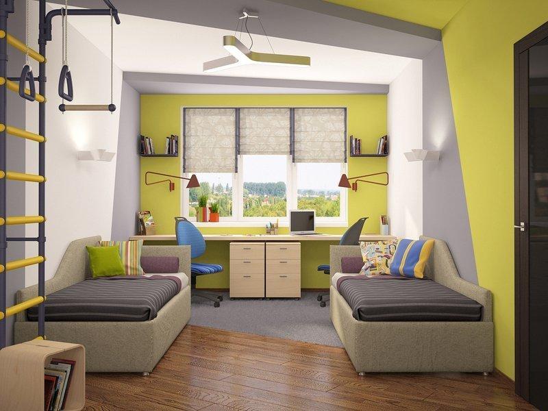 Дизайн детской комнаты для двух мальчиков +164 фото интерьера