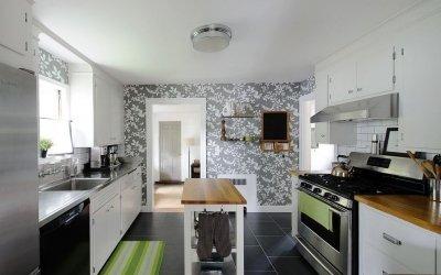 Обои для кухни: дизайн и 75 фото примеров