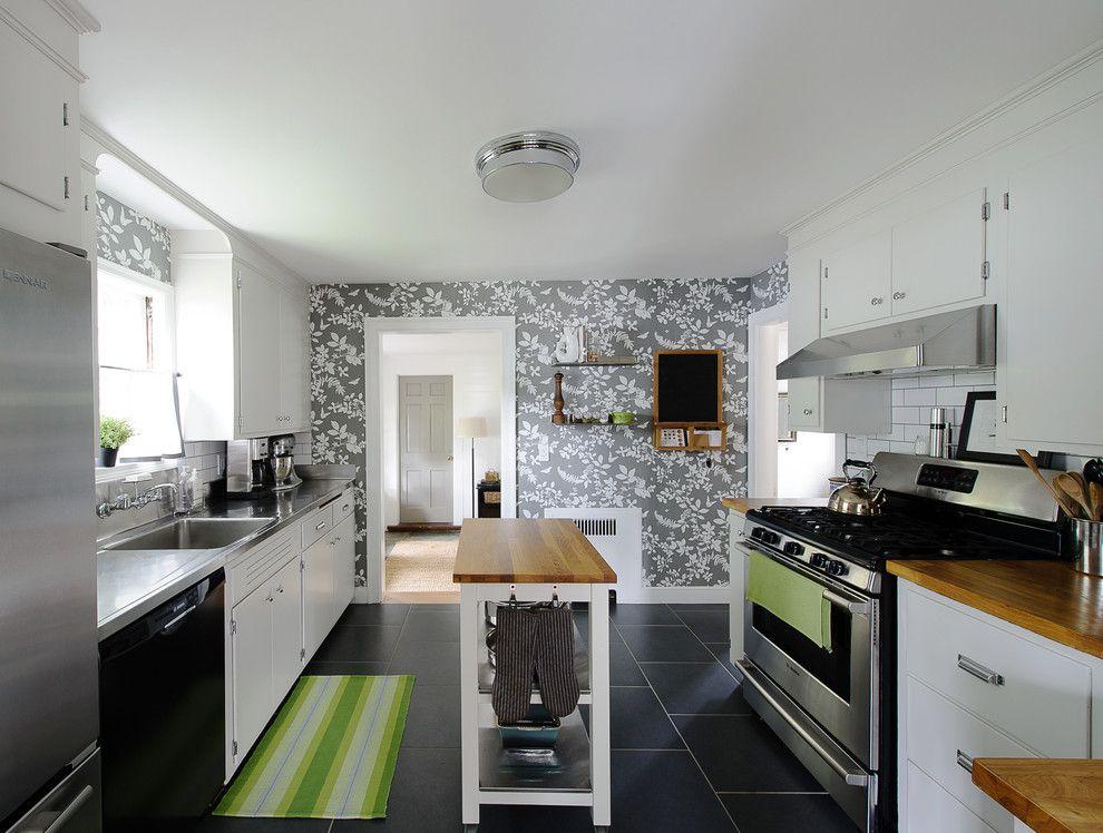дизайн обоев на кухне фото