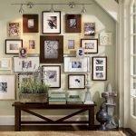 Подсветка фотографий на стене