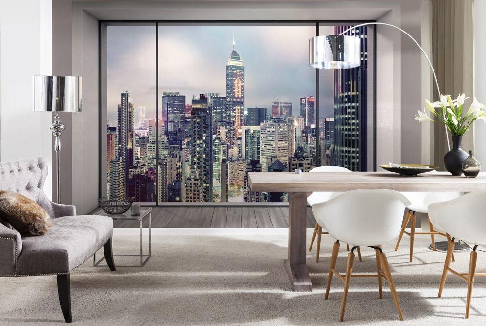 декоративное фальш окно с фотообоями