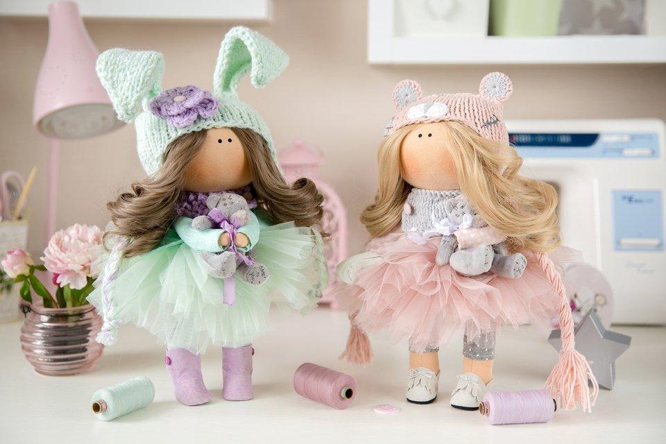 Интерьерные куклы своими руками из ткани фото 34