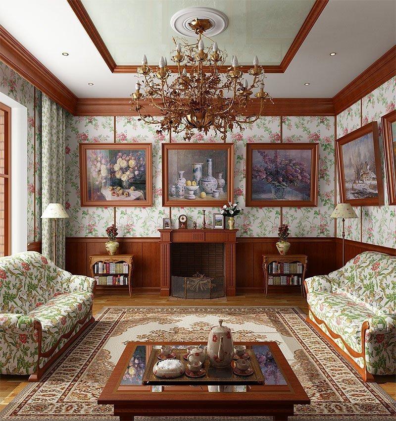 Рамки картин под цвет интерьера гостиной