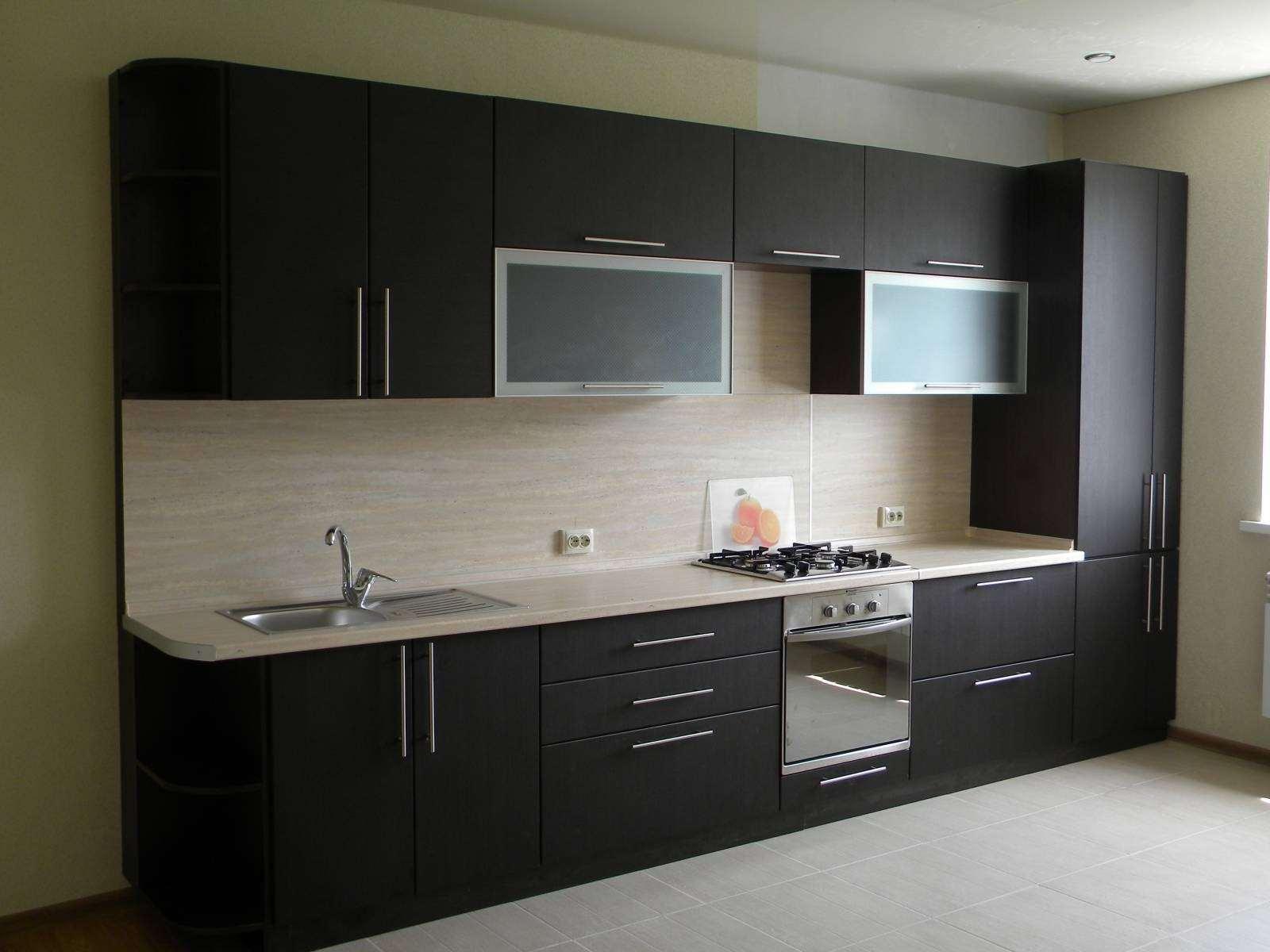 Кухонный гарнитур цвета венге