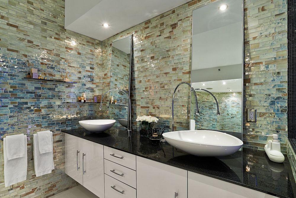 Мозаика из смальты в ванной