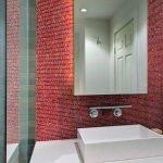 Мозаика под кирпич на стене