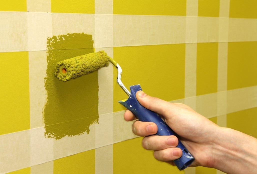 Цветные вставки на стенах
