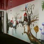 Роспись стен в интерьере заведений