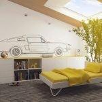 Автомобиль на стене