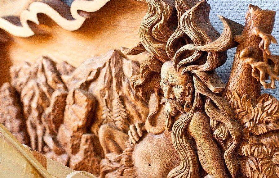 Объемное изображение из дерева