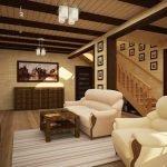 Имитация деревянного потолка