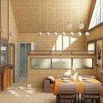 Декор комнаты деревянными рейками