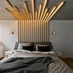 Потолок из фанеры с подсветкой в спальне