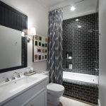 Дизайн черно-белой ванной комнаты 75 фото примеров