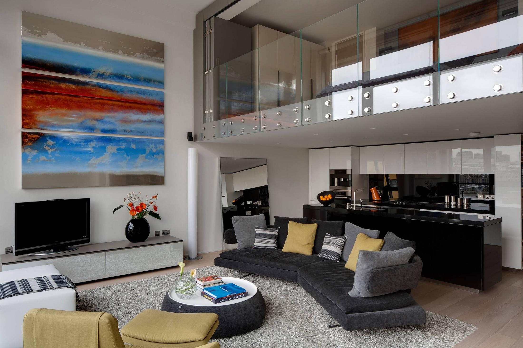 Современный дизайн многоуровневой квартиры