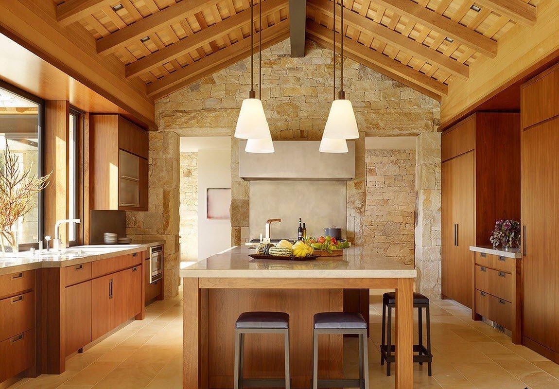 Природные материалы для отделки кухни