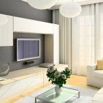 Компактная гостиная в квартире