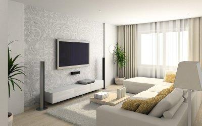 Дизайн маленького зала +75 фото примеров интерьера