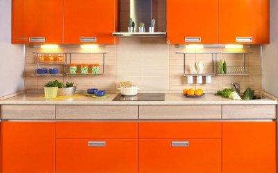Дизайн оранжевой кухни +75 фото примеров