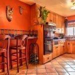 Сочная кухня в оранжевом цвете