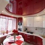 Дизайн в красно-белом цвете