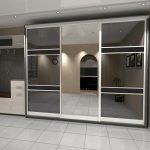 Современный шкаф для просторной прихожей