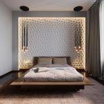 Оригинальный декор спальни 16 кв. м.
