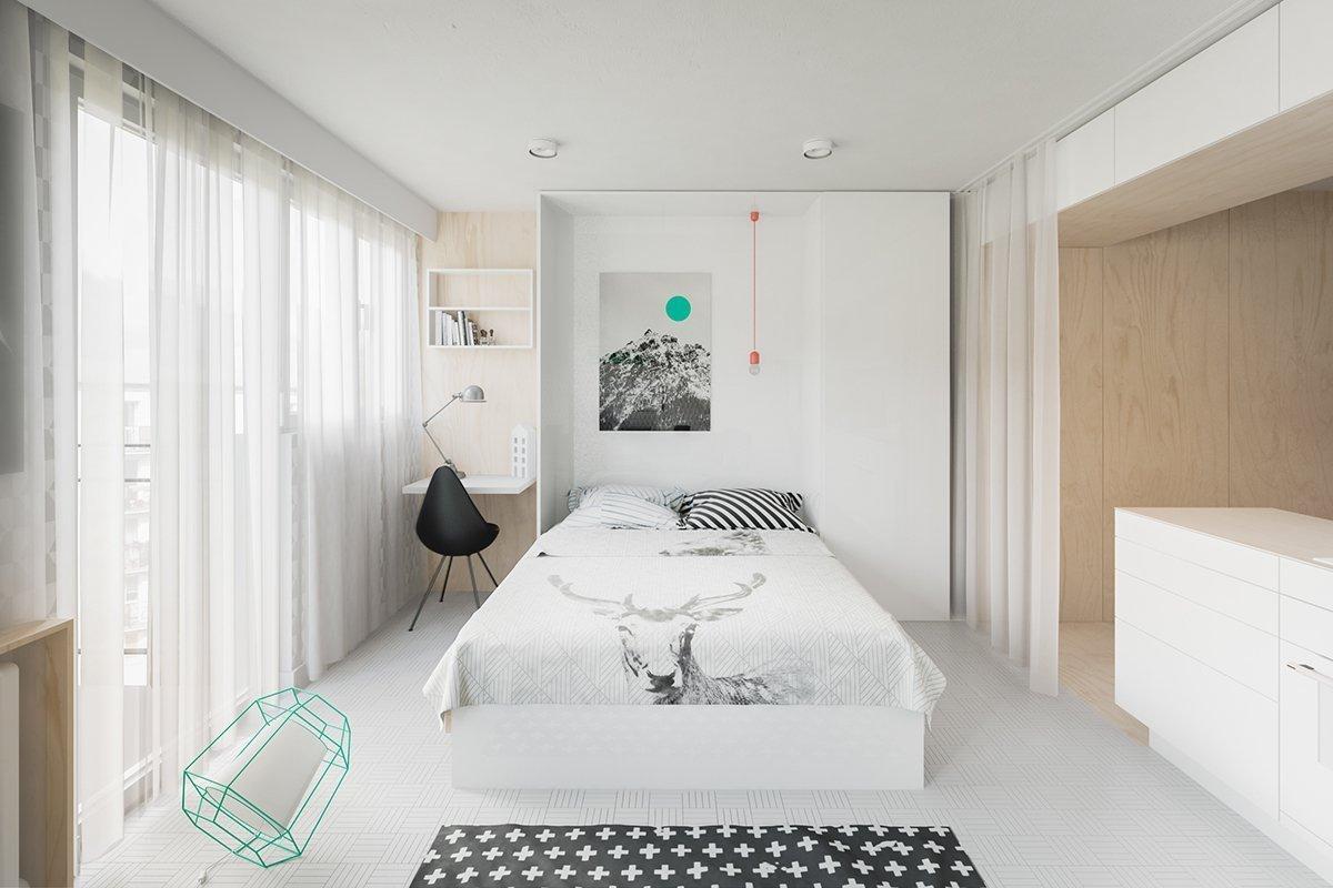 Просторная спальня в квартире