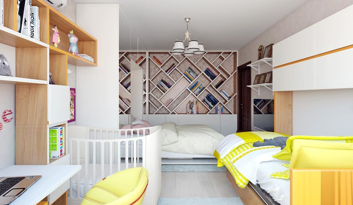 Спальня с кроваткой для ребенка