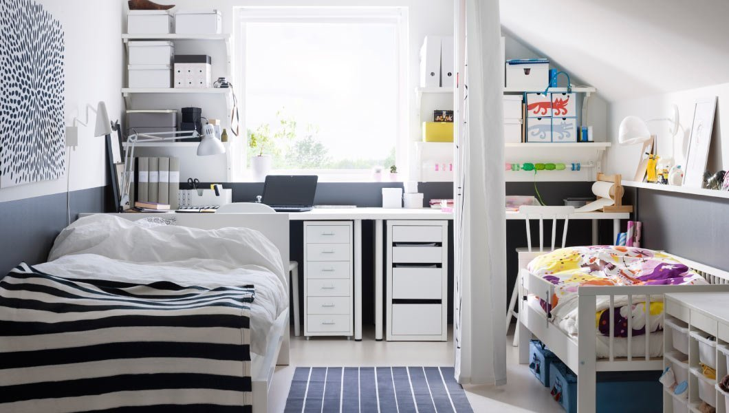 Черно-белый декор комнаты