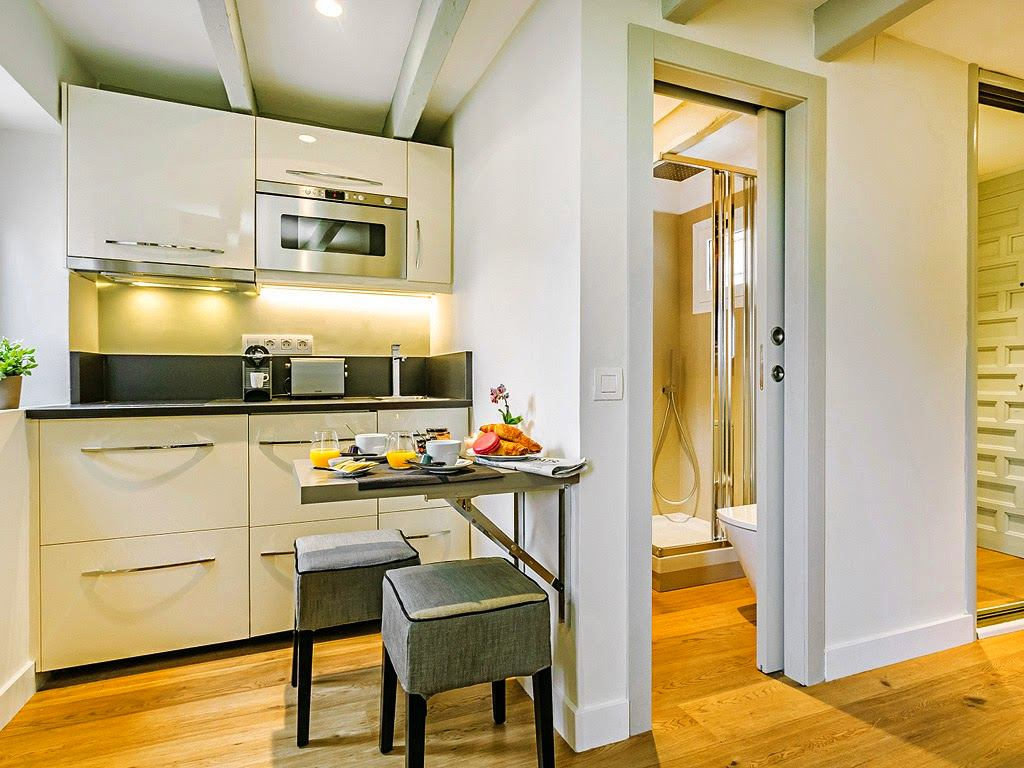 Кухня в квартире-студии 26 кв м