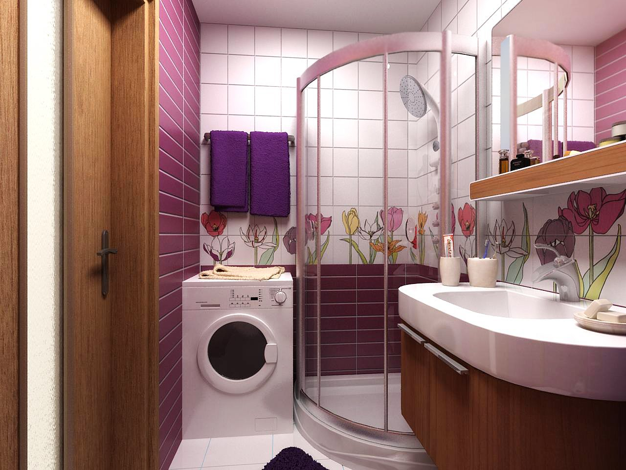 Идеи дизайна для ванной совмещенной с туалетом фото