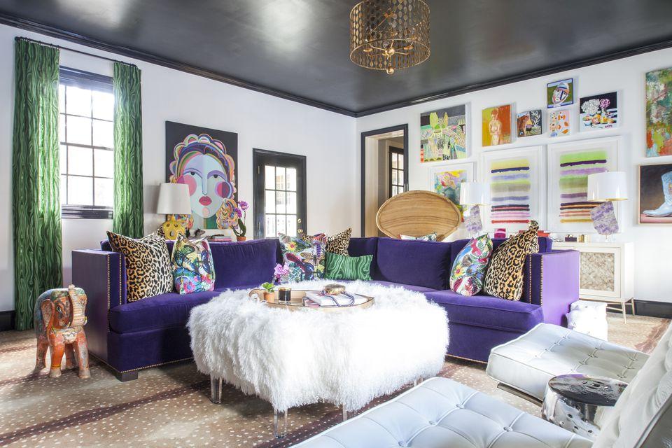 Красочный интерьер гостиной