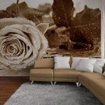 Фотообои с коричневыми розами